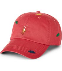 polo ralph lauren men's knot-motif twill ball cap