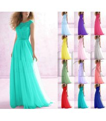 uk chiffon lace bridesmaid dresses evening party ball prom gown size: 6 -- 18 ++