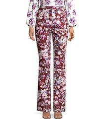 joan floral-print pants