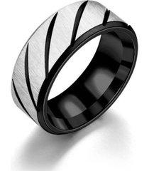 anillo magnetico acero inoxidable negro