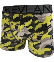 cueca boxer kevland camuflado yellow amarelo