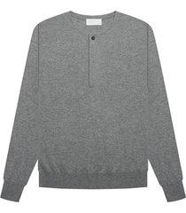 grey sweater with cuffs