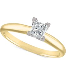 certified diamond engagement ring (1/2 ct. t.w.) in 18k white gold