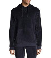long-sleeve velour hoodie