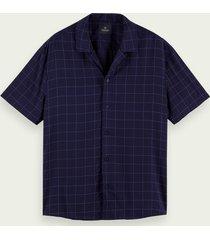 scotch & soda lichtgewicht overhemd met korte mouwen en print