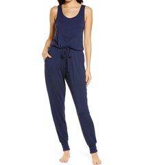 women's nordstrom moonlight dream henley jumpsuit, size xx-large - blue