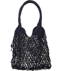 area stars macrame medium tote