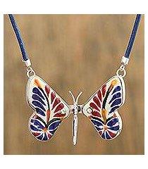 ceramic pendant necklace, 'harvest metamorphosis' (mexico)