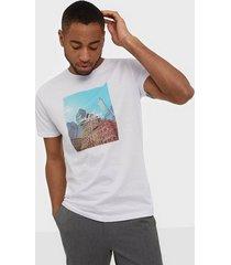 jack & jones jorcafe tee ss crew neck t-shirts & linnen vit