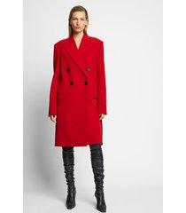 proenza schouler technical wool double breasted coat 00800/red 4