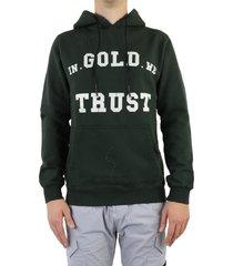 igwt hoodie washed fade black groen
