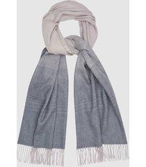 reiss annie scarf - wool cashmere blend scarf in grey multi, womens