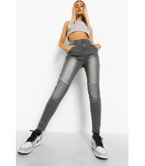 biker jeans, grey