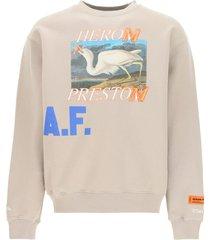 heron preston heron a.f. crewneck sweatshirt