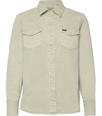 27ww overhemd met lange mouwen beige wrangler