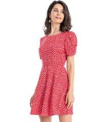 enterito tipo vestido rojo nicopoly