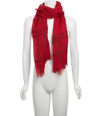 cejon lurex plaid wrap scarf