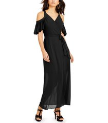 thalia sodi cold-shoulder mesh dress, created for macy's
