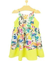 vestido infantil pandi recortes amarilis feminino