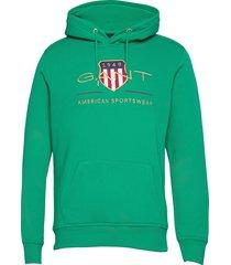 archive shield hoodie hoodie trui groen gant