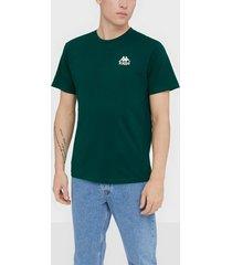 kappa t-shirt s/s auth wollie t-shirts & linnen grön/brun
