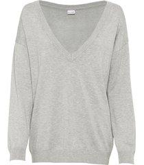 maglione oversize con scollo a v (grigio) - bodyflirt
