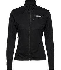 agr xc j w outerwear sport jackets zwart adidas performance