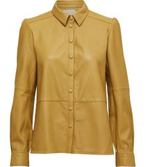 annabel leather shirt