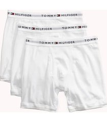 tommy hilfiger men's classic cotton boxer brief 3pk white - l