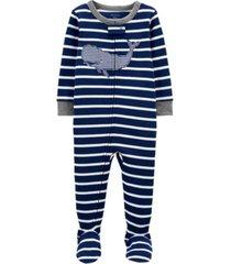 baby boys whale footie pajamas