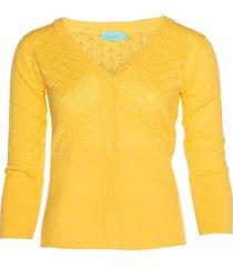 lalamour vest plain geel