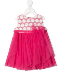 aletta floral patterned tulle dress - pink