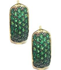 brinco kumbayá joias curto verde - kanui