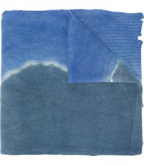raquel allegra oversized tie-dye shawl - blue