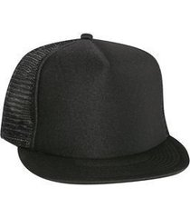 """otto polyester foam front round flat visor """"otto snap"""" five panel high crown mes"""
