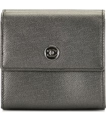 chanel pre-owned 2006 cc trifold wallet - brown