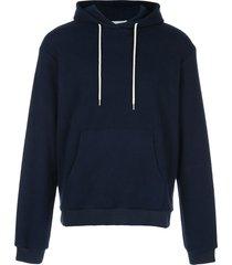 john elliott micro-ribbed hoodie - blue