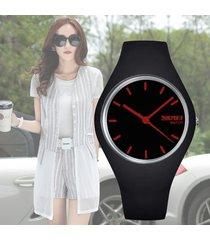 reloj deportivo skmei dama moda-negro