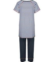 pyjamas simone marinblå/vit/orange