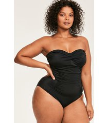 illusion curve bandeau firm control one-piece swimsuit