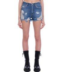 chiara ferragni shorts in blue denim