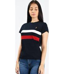 camiseta smith 2 azul marino para mujer