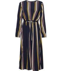 slflucia-damina ls aop ankle dress b jurk knielengte multi/patroon selected femme