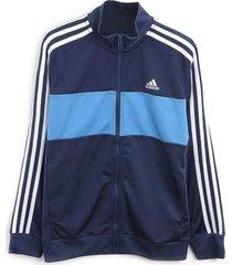 jaqueta adidas performance infantil logo azul/azul-marinho