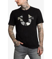 true religion men's horseshoe cut up graphic t-shirt