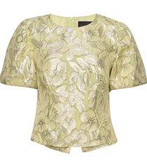 addison blouse blouses short-sleeved geel birgitte herskind