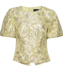 addison blouse blouses short-sleeved geel birgitte herskind