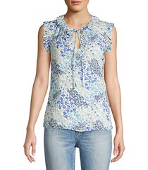 ava floral ruffle top