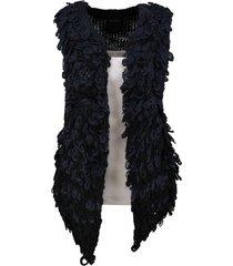 10 feet zwart blauw gilet knitwear