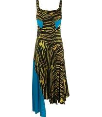 marine serre blue spotted printed dress - black